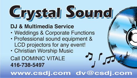 crystal sound business card