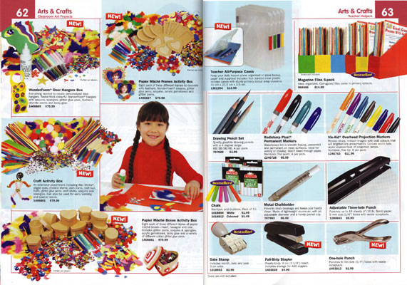 Classroom Essentials Catalogue Double Page Spread